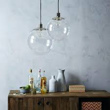 large clear glass pendant light large clear glass globe pendant light