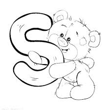 Letter S Coloring Page Antiatominfo