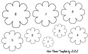 Spring Flower Template Spring Flower Cut Out Template Flowers Healthy