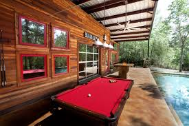Pool Table Rustic Patio Dallas by Wright Built