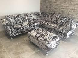 chesterfield corner sofa silver crush velvet living room by sofas in fashion