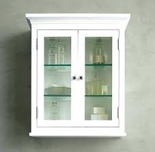 white two door bathroom wall cabinet with throughout glass doors decorating shelves oak display cabinets w