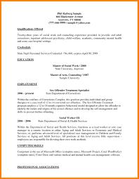 7 Social Work Resume Example Incidental Report