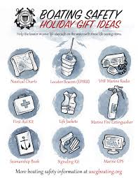 the u s coast guard remends a variety of life saving gift ideas for boaters this