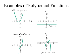 example of polynomials functions