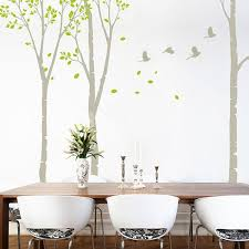wall decals white birch grove trees wall stickers canada