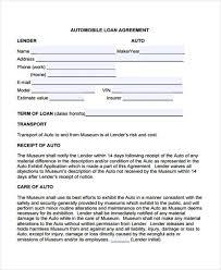 Printable Loan Agreement Form