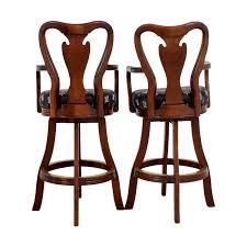 fleur de lis bar stools. Black Fleur De Lis Upholstered Wood Bar Stools / Chairs