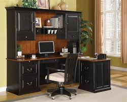 3 piece l shaped desk set in two tone finish by coaster 800851l