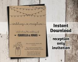 reception only etsy Wedding Reception Only Invitations reception only invitation template printable rustic mason jar & fairy lights wedding reception invite wedding reception only invitations wording
