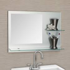 Bathroom decoration using mounted wall clear glass bathroom shelf