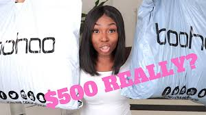i spent 500 on boohoo this is what i got really