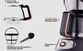 5 Cup Coffee Maker Crux 5 Cup Manual Coffee Maker With Copper Accents