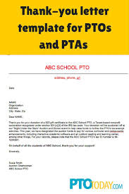 Donor Thank You Letter Sample Vhes Pta Donation Thank You Letter