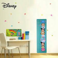 Tsum Tsum Color Chart Disney Tsum Tsum Cartoon Height Measure Growth Chart Wall Sticker Decal For Kids Children Nursery Room Decor Green