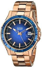gold watches for men guess men s u0244g3 color sport blue dial gold watches men guess