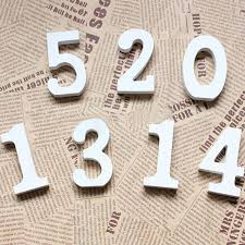 numbers 0 9 white wood wooden letters alphabet wedding birthday decoration party supllies lt 18 no tracking brown paper kraft paper boxes from