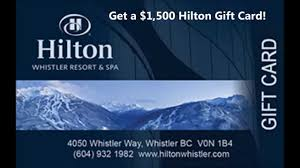 hotel gift cards get 1 500 hilton gift card us