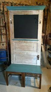 old door into a hall tree with chalkboard where the window used to be trees for old door into a hall tree with chalkboard where the window used to be trees