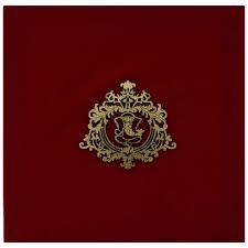 designer ganesha wedding card in red velvet and antique golden Red Velvet Wedding Invitations designer ganesha wedding card in red velvet and antique golden Wedding Invitation Templates