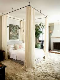 Diy Canopy Bed with Curtain Rods Inspirational Ceiling Hung Curtain ...
