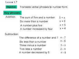 7 objective translate verbal phrases