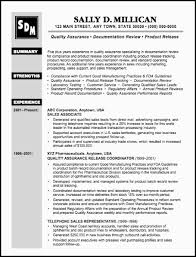 Resume Examples For Quality Assurance Manager