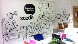 office graffiti wall. XCEDE Office Graffiti Mural Artwork Wall