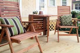 patio furniture for small spaces outdoor furniture for small deck wooden chair with black