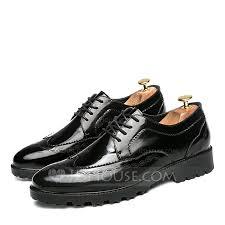 men s patent leather lace up brogue dress shoes men s oxfords loading zoom