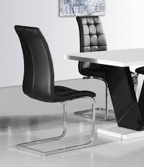 faux leather dining chair black: enyo white faux leather chrome buttoned floating dining chair gia