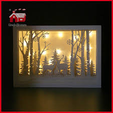 How To Decorate Shadow Boxes Glass Frame Forest Scene Glass Decoration with Plastic Frame 47