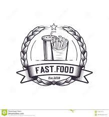 Vintage Logo Vector Fast Food Retro Illustration Vector Vintage Logo Design Weiner Hot