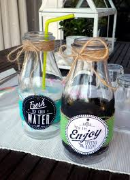 ... recycled drink containers for a diy party