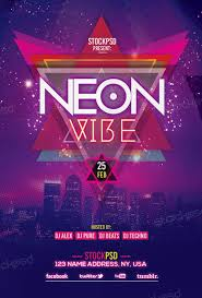 Free Flyer Template Download Neon Vibe Free Flyer Template Download Free Electro Party