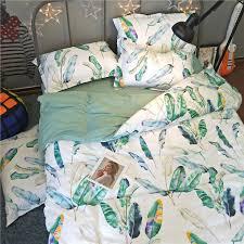 100 cotton bedding set tropical rain forest duvet cover pillow cases bedsheet bedding sets 3 4pcs twin queen king size tj 32