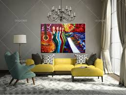china whole room corner decoration al instrument painting service bar definition artworks painting guitar oil painting