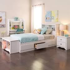 twin platform bed with drawers. White Twin Platform Storage Bed With Drawers