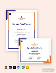 Certificate Of Sports Day Template 6 Word Psd Ai Format