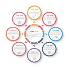 Organization Chart Psd Circle Infographics Template Psd Vector Eps Ai Illustrator