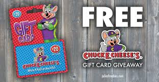 chuck e cheeses gift card giveaway