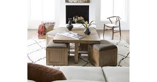 Champagne cube coffee table with 4 storage ottomans $899.00 well seated! Champagne Cube Coffee Table With 4 Storage Ottoman 28 Furniture Pieces So Stylish And Affordable You Ll Never Believe We Found Them At Macy S Popsugar Home Photo 8