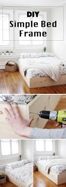 diy simple bed frame