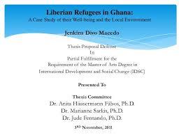 Presentation for Dissertation Proposal Defense