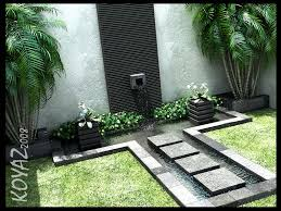 Courtyard Design Ideas Beautiful Stone Tribal Water Feature In Courtyard