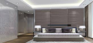 D Rendering Of Modern Minimalist Master Bedroom