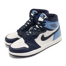Details About Nike Air Jordan 1 Retro High Og I Aj1 Obsidian Unc Blue Men Shoes 555088 140