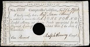 Connecticut Comptrollers Office Note Dec 1790 2 Pounds Colonel