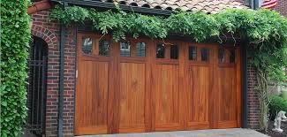 residential custom wood garage door
