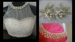Pearl Designer Blouses Online Awesome Designs Of Pearl Moti Work On Blouse Maggam Work On Blouses